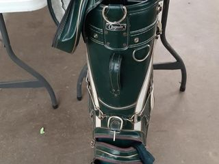 AUGUSTA GOlF BAG AND ASSORTED ClUBS  IRONS