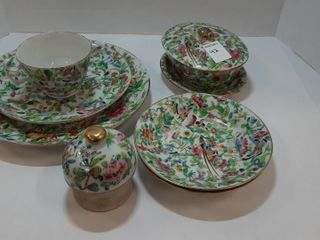 lOT   ASSORTED CHINA   PlATERS  CUP