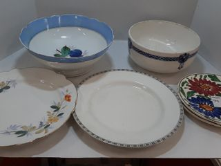 5  PIECES OF CHINA   PlATES   BOWlS