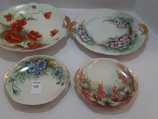 4  PIECES OF HANDPAINTED PlATES