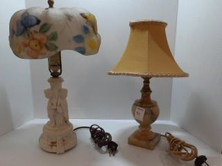 MARBlE lAMP AND FIGURINE lAMP
