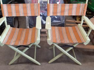 PAIR OF FOlDING DIRECTOR CHAIRS