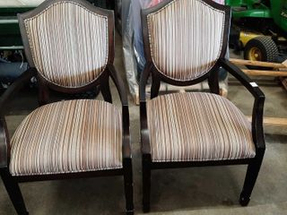 PAIR OF SHIElD BACK ARM CHAIRS