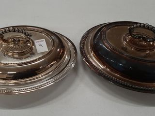 2  SIlVERPlATE ENTREE DISHES