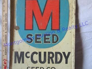 MCCURDY SEED SIGN