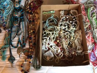 large Selection of Bead Necklaces  Bolero Ties