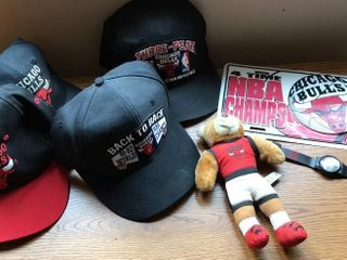 Chicago Bulls Hats  4  license Plate  Teddy Bear