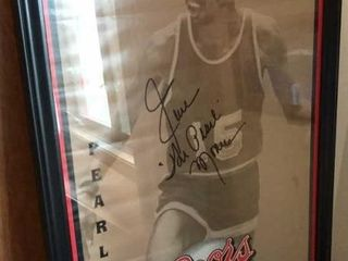 Earl The Pearl Monroe Coors Signed Poster