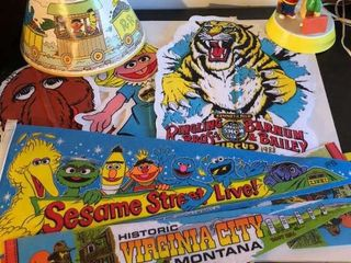 Sesame Street Banners  Pennants  and lamp
