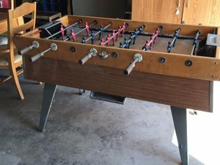 Vintage Foosball Table w  Cast Players