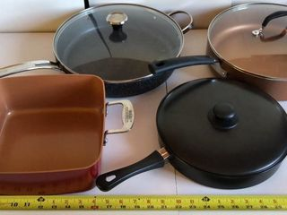 3  Skillets and 1 Dry Fry Skillet
