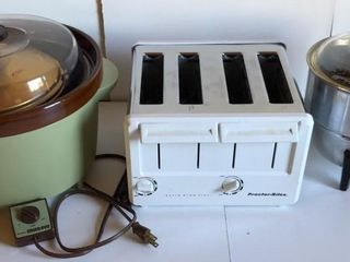 4 Slice Toaster  Crock Pot with Accessories