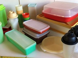large Assortment of Tupperware