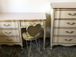 French Provincial Vanity Desk and Dresser