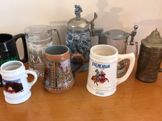 8  Assorted Collectible Steins