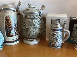 5  Collectible Steins