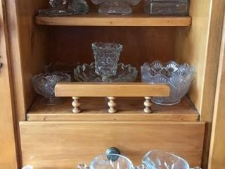 Variety Of Clear Glassware