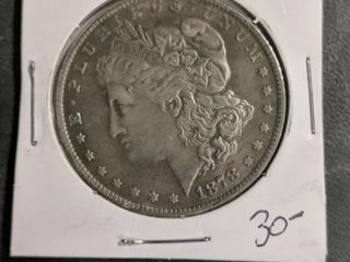 1878 Morgan dollar SEE description