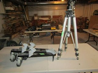 Manfrotto professional tripod and wheeled base