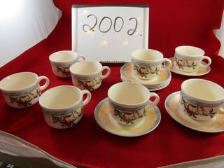 Johnson Bros  set of 8 cups and saucers