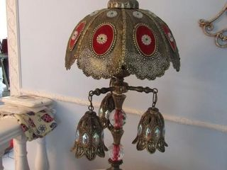 Ornate matching lamps  bottom and top can be