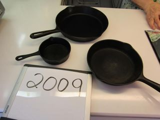 3 Cast frying pans  Canada   6  Canada   9  small