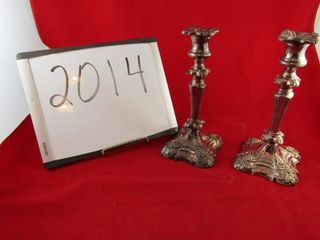 Coronet plate candle holders 9 5  H