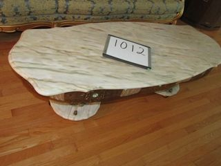 Marble top coffee Table 60  x 24  x 18 5