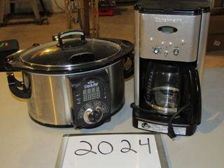 Rival crock pot  Cuisinart coffee maker