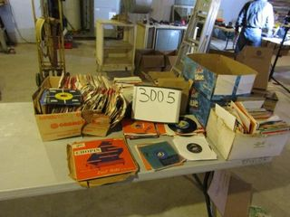 large collection of 45 records