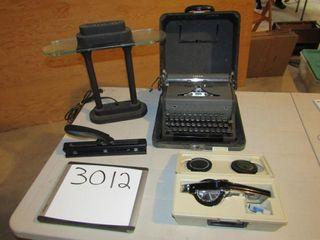 Arrow vintage manual typewriter  paper punch
