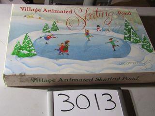 Dept 56 Village animated skating pond