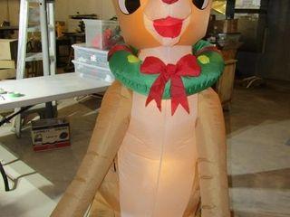 Exterior inflatable reindeer Rudolph