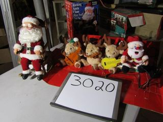 Rocking Santa Claus   animated Plush band