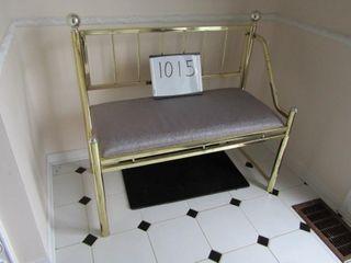 Brass Bench 37  x 19  x 34 5