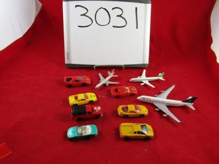 Die cast cars and airplances