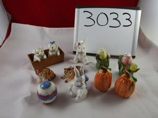 Group of Salt and Pepper shakers