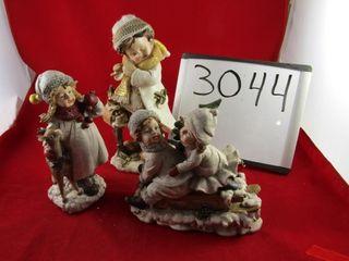 3  Child figures   Christmas theme