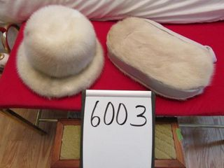 Mink Purse muff with matching hat
