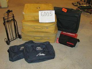 3 pc  yellow Escort like new luggage  travel bags