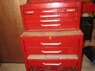 Toolboxes  base and top  including contents