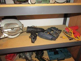 lot of 4 items  skill saw  heat gun  pin nailer