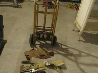 Equipment dolly  tool belt and 2 harnesses