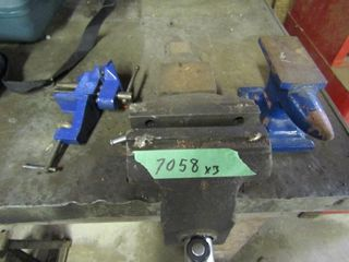 Small anvil  small clamp on vice  large bolt on vi