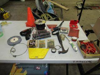 Box of misc  tools  like sockets  soldering iron