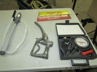 two gas signs  plastic turbo pump  gas pump n