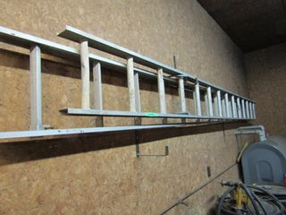 extension ladder two sections each 14 feet  with l