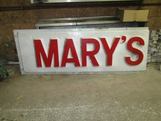 MARY S  sign