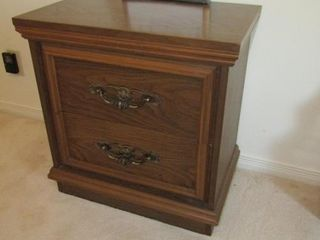 Bed side table 22  x 14 5  x 22 75 H