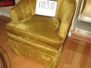 Upholstered Chair Gold